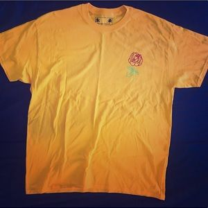Other - Yellow T Shirt with Velvet Rose Design